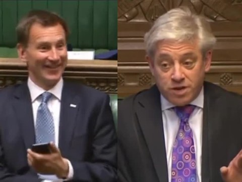 Jeremy Hunt told off like a naughty schoolboy after using his phone in chamber