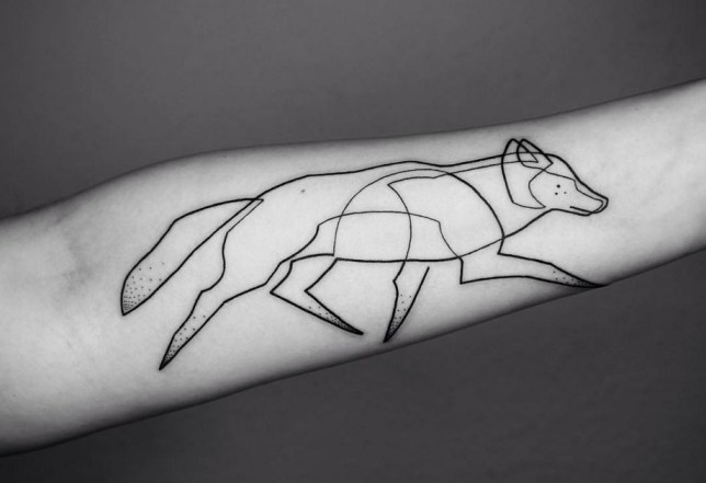 Mo Ganjis Single Continuous Line Tattoo Designs Are