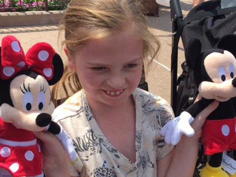 Disabled girl with deteriorating sight visits Disney to 'create memories' before she becomes fully blind