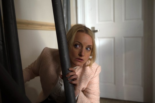 FROM ITV STRICT EMBARGO - No Use Before Tuesday 21 June 2016 Emmerdale - Ep 753839 Tuesday 28 June 2016 When Nicola King [NICOLA WHEELER] realises she and Jimmy have left their bag of sex toys at Mill Cottage she sneaks back in. Locating the bag she makes to leave but hears smashing from downstairs. She hides until it goes quiet then steels herself to face whoever's out there. But as she opens the door, she's met by a wall of flames. Nicola runs for the door but a box of white spirits explodes, bringing down scaffolding and knocking her out. Trapped, she screams for help. Picture contact: david.crook@itv.com on 0161 952 6214 Photographer - Andrew Boyce This photograph is (C) ITV Plc and can only be reproduced for editorial purposes directly in connection with the programme or event mentioned above, or ITV plc. Once made available by ITV plc Picture Desk, this photograph can be reproduced once only up until the transmission [TX] date and no reproduction fee will be charged. Any subsequent usage may incur a fee. This photograph must not be manipulated [excluding basic cropping] in a manner which alters the visual appearance of the person photographed deemed detrimental or inappropriate by ITV plc Picture Desk. This photograph must not be syndicated to any other company, publication or website, or permanently archived, without the express written permission of ITV Plc Picture Desk. Full Terms and conditions are available on the website www.itvpictures.com