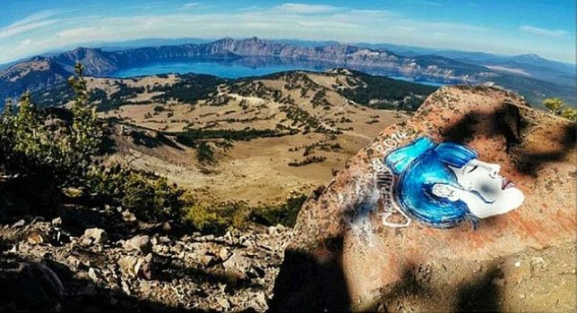 Woman banned from all national parks for instagram graffiti