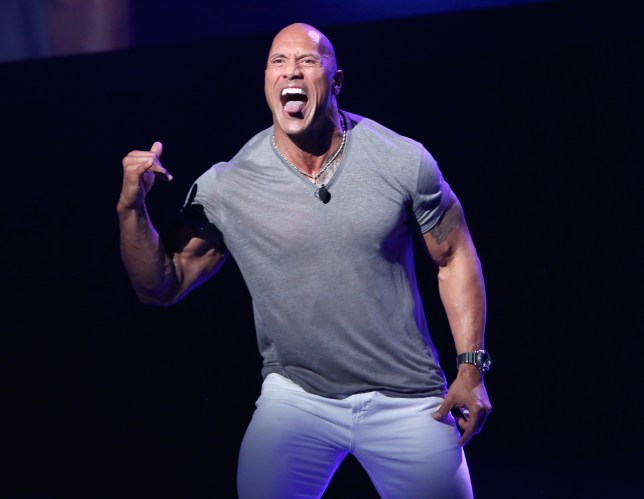 Dwayne took a swipe at his male co-stars (Picture: Getty Images for Disney)
