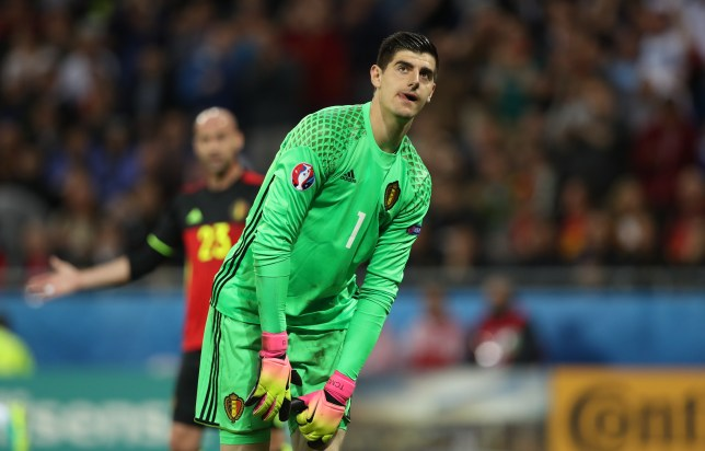 f09c9d84444 Chelsea s Thibaut Courtois involved in furious  altercation  with Belgium  manager Marc Wilmots