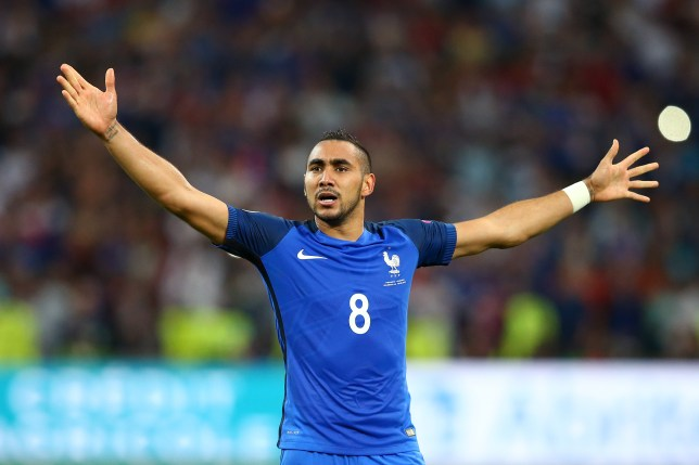 MARSEILLE, FRANCE - JUNE 15: Dimitri Payet of France reacts during the UEFA EURO 2016 Group A match between France and Albania at Stade Velodrome on June 15, 2016 in Marseille, France.  (Photo by Alex Livesey/Getty Images)