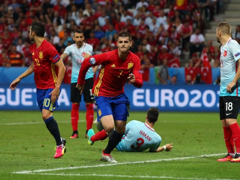 Spain 3 Turkey 0: Alvaro Morata's double and a Nolito strike sees reigning champions book place in last 16
