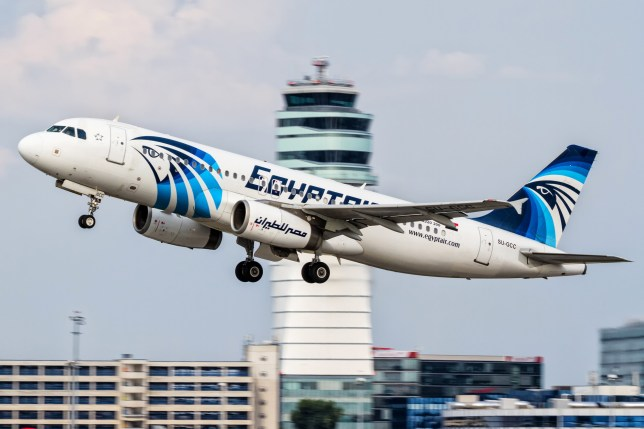 FILE -- This August 21, 2015 file photo shows an EgyptAir Airbus A320 with the registration SU-GCC taking off from Vienna International Airport, Austria. Egypt's Civil Aviation Ministry said Wednesday, June 1, 2016 that a French ship has picked up signals from deep under Mediterranean Sea, presumed to be from black boxes of the EgyptAir Airbus A320 with the registration SU-GCC that crashed last month, killing all 66 passengers and crew on board. The Civil Aviation Ministry is citing a statement from the committee investigating the crash as saying the vessel Laplace is the one that received the signals. It says that a second ship, John Lethbridge affiliated with the Deep Ocean Search firm, will join the search team later this week. (AP Photo/Thomas Ranner, File)