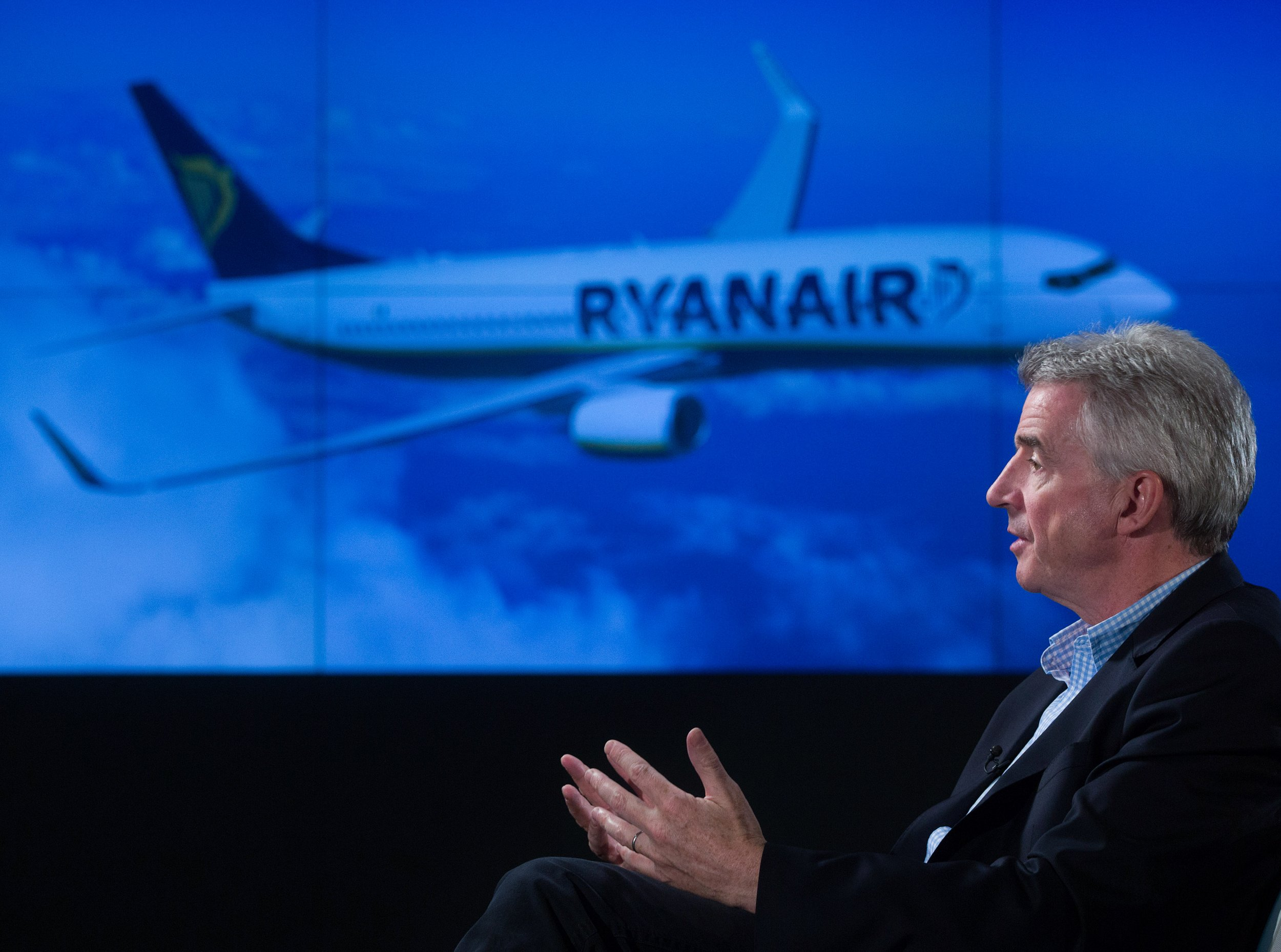 This is what Ryanair and Wetherspoons customers think of Brexit Credit: Getty. Michael O'Leary, chief executive officer of Ryanair Holdings Plc, gestures whilst speaking during a Bloomberg Television interview in London, U.K., on Tuesday, April 19, 2016. Ryanair is battling lower fares in the first months of its financial year, weighed down by French air-traffic controller strikes and by travelers' concerns about a future terrorist incident following last month's bombings in Brussels. Photographer: Simon Dawson/Bloomberg via Getty Images