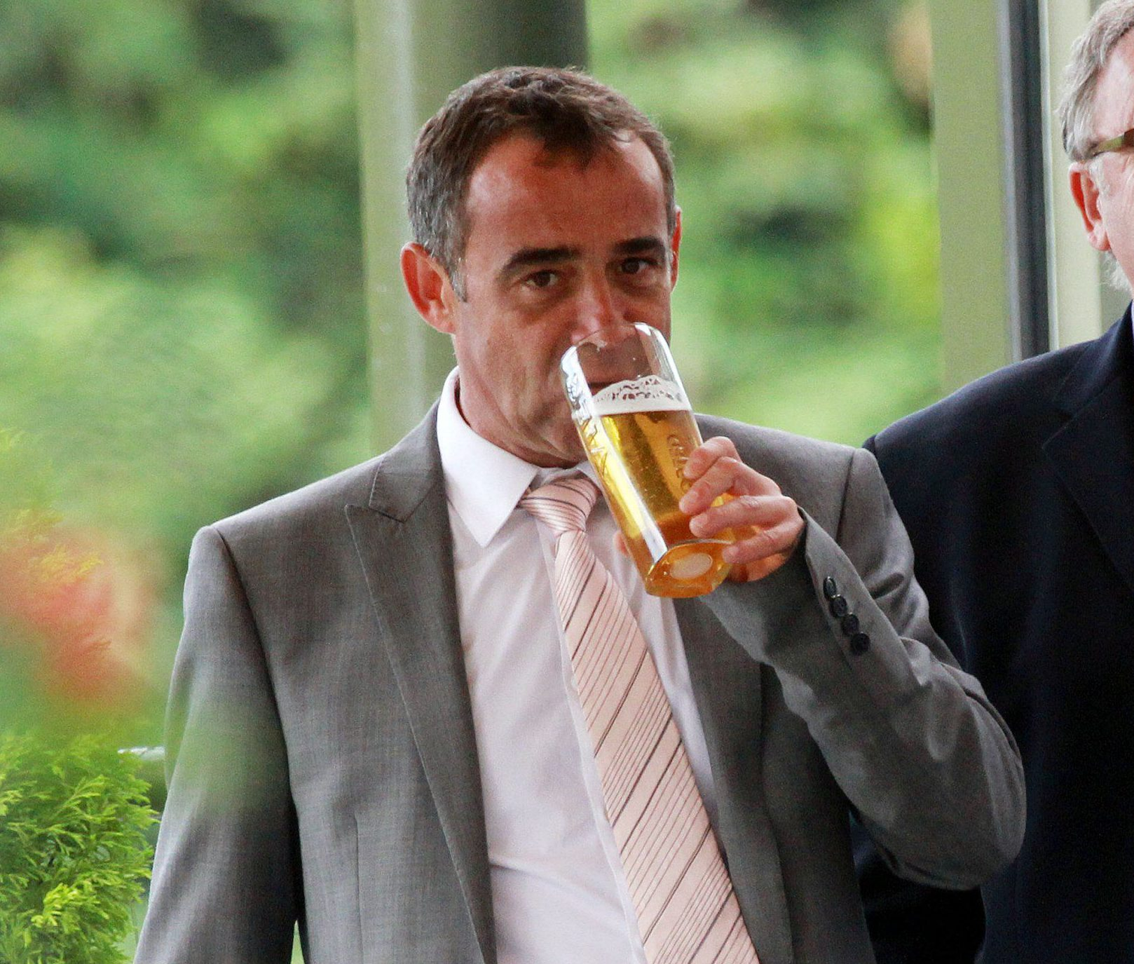 Coronation Street star Michael Le Vell drinks a pint to celebrate his not guilty verdict with his brother, Phil...<P>..Pictured: Michael Le Vell..<B>Ref: SPL608582 100913 </B><BR />..Picture by: Splash News<BR />..</P><P>..<B>Splash News and Pictures</B><BR />..Los Angeles: 310-821-2666<BR />..New York: 212-619-2666<BR />..London: 870-934-2666<BR />..photodesk@splashnews.com<BR />..</P>
