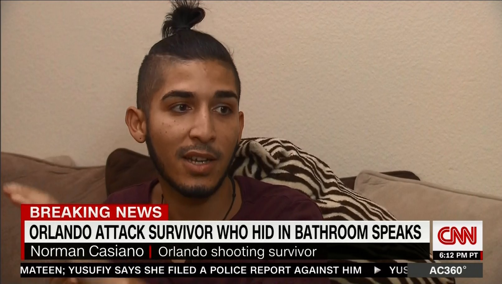 Norman Casiano speaks with Anderson Cooper on CNN