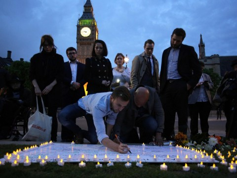 In pictures: Vigils held in memory of murdered MP Jo Cox