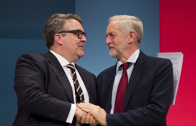 Mandatory Credit: Photo by Ben Cawthra/REX/Shutterstock (5203755t) Tom Watson and Jeremy Corbyn Labour Party Annual Conference, Brighton, Britain - 30 Sep 2015