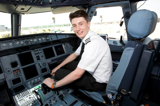 EMBARGOED TO 0001 FRIDAY JULY 1 Undated handout photo issued by easyJet of teenager Luke Elsworth at Gatwick Airport as he becomes one of the UK's youngest ever airline pilots. PRESS ASSOCIATION Photo. Issue date: Friday July 1, 2016. Elsworth, 19, was offered a job with easyJet after taking one of the fastest possible routes to becoming qualified. See PA story AIR Pilot. Photo credit should read: Tim Anderson/easyJet/PA Wire NOTE TO EDITORS: This handout photo may only be used in for editorial reporting purposes for the contemporaneous illustration of events, things or the people in the image or facts mentioned in the caption. Reuse of the picture may require further permission from the copyright holder.