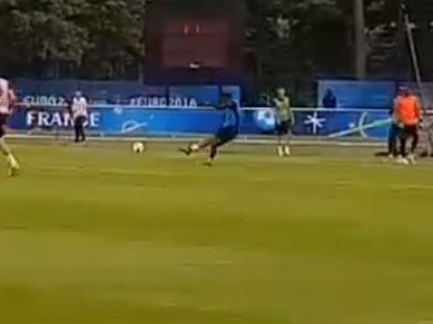 Manchester United star Anthony Martial scores thunderbolt in France training ahead of Iceland match