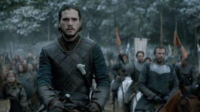 Jon Snow and Ramsay Bolton came to blows in the Battle of the Bastards (Picture: HBO)
