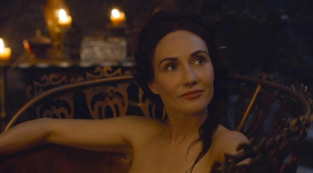 Carice Van Houten gets naked a lot on Game Of Thrones (Picture: HBO)