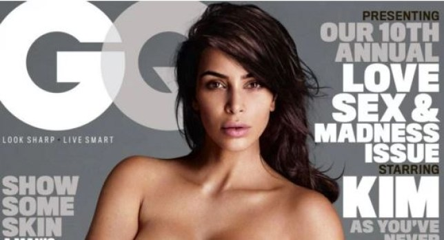 Kim Kardashian posed naked (Picture: Mert Alan and Marcus Piggott/GQ)