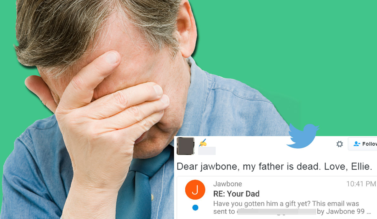 Jawbone sent a pretty 'insensitive' Father's Day email