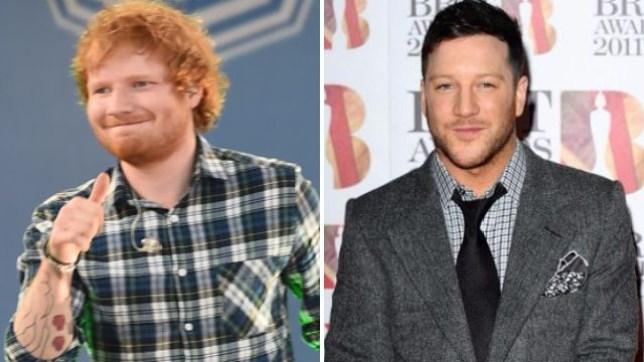 Ed Sheeran and Matt Cardle split