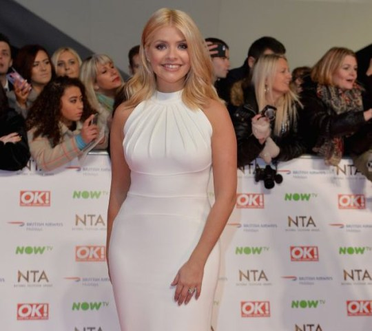 Television presenter Holly Willoughby attends the 21st National Television Awards at The O2 Arena in London, England on January 20, 2016. LONDON, ENGLAND - JANUARY 20: (Photo by Anthony Harvey/Getty Images)