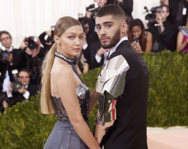 "Fashion model Gigi Hadid and singer Zayn Malik arrive at the Metropolitan Museum of Art Costume Institute Gala (Met Gala) to celebrate the opening of ""Manus x Machina: Fashion in an Age of Technology"" in theManhattan borough of New York, America. REUTERS/Eduardo Munoz"