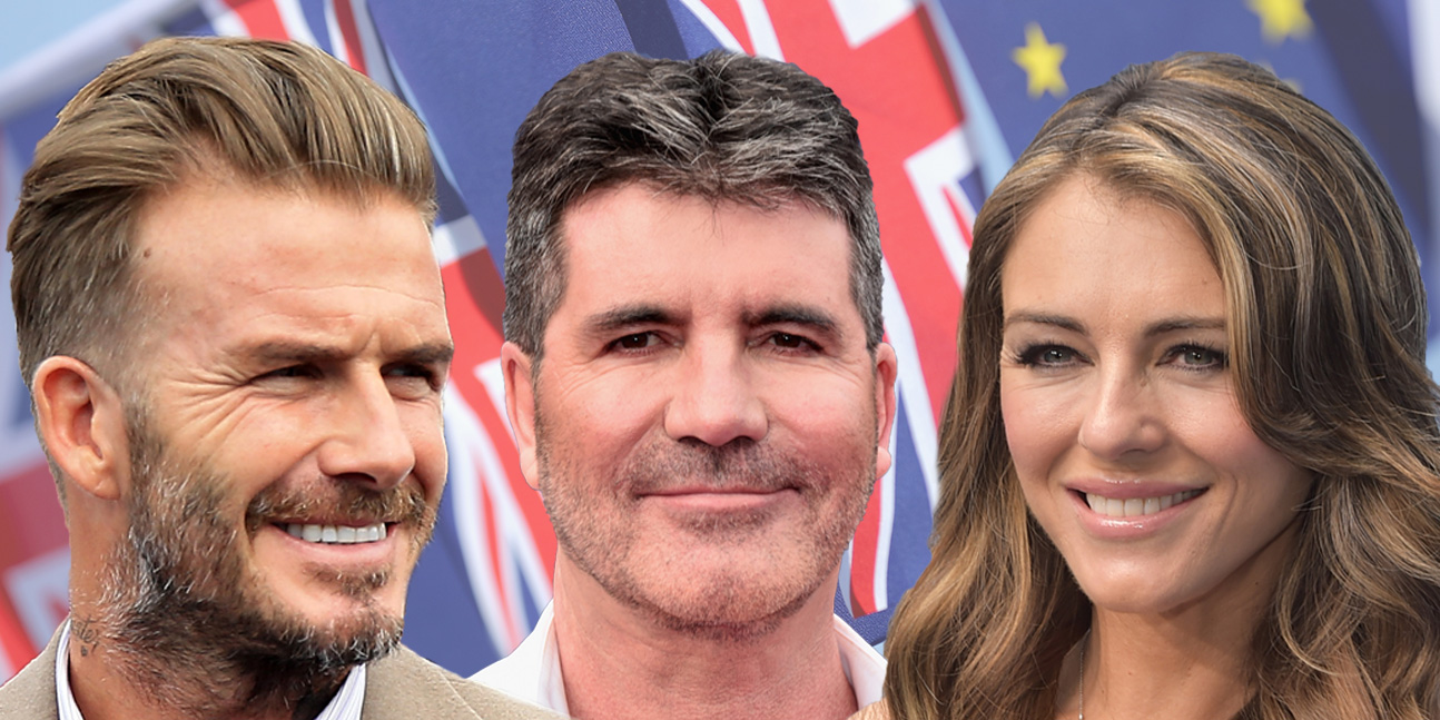 can i get an EU ref comp featuring David Beckham, Simon Cowell and Elizabeth Hurley Credit: Getty