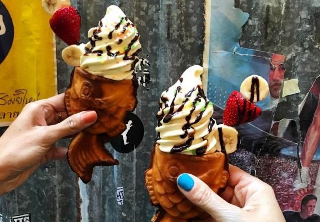 fish ice cream cones