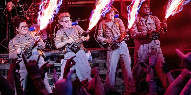 Melissa McCarthy, Kate McKinnon, Kristen Wiig and Leslie Jones are the new Ghostbusters (Picture: Columbia Pictures)