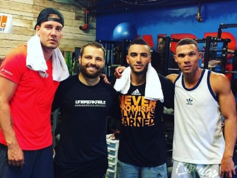 Arsenal star Kieran Gibbs begins pre-season training…with Nicklas Bendtner