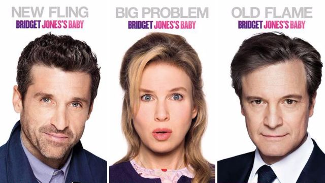 Move over Mr Darcy! Patrick Dempsey has fans hot under the collar as new Bridget Jones's Baby posters drop