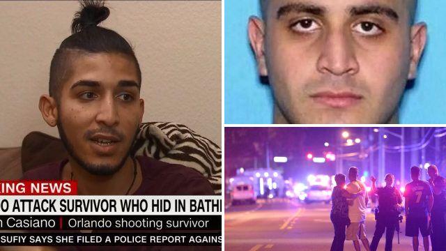 Only survivor to escape Orlando club's bathroom says killer was 'laughing fanatically'