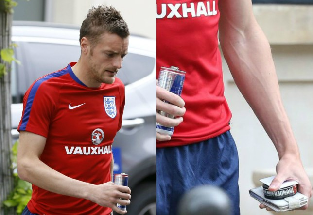 Jamie Vardy leaves the team hotel to attend a training session in Chantilly (Picture: AP)