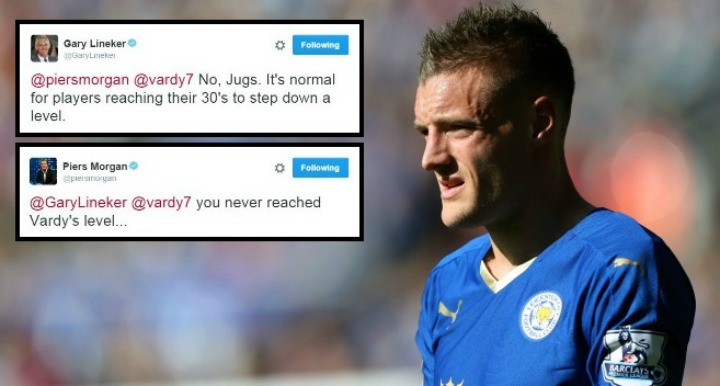 Jamie Vardy to Arsenal transfer speculation sparks Twitter beef between Gary Lineker and Piers Morgan