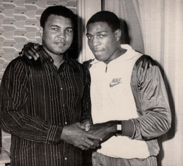 Frank Bruno poses with Muhammad Ali . REXMAILPIX.