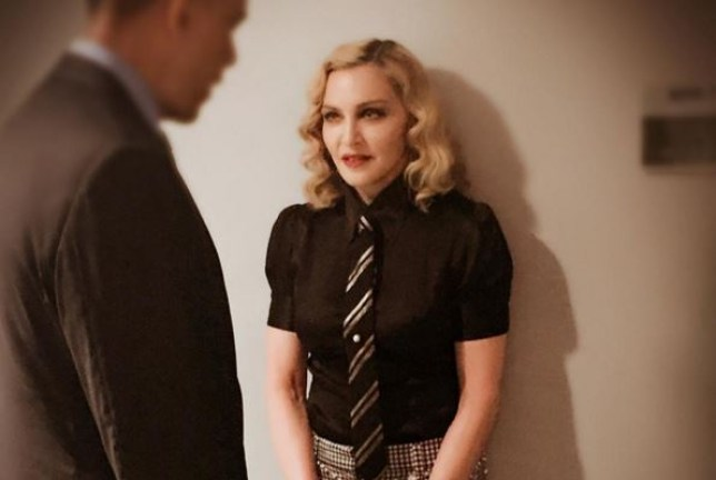 Madonna meeting the President Obama where she says she was 'speechless' (Picture: Instagram)