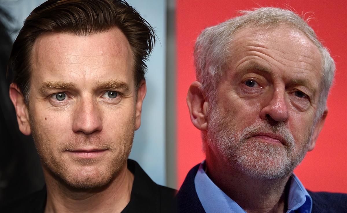 Ewan McGregor backs Corbyn. Credit: Getty