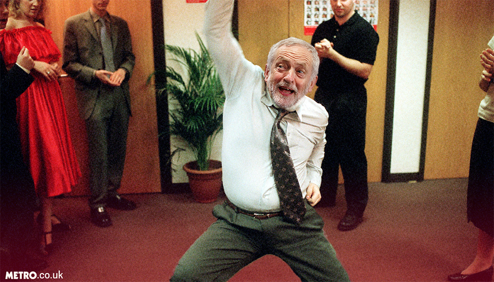 Jeremy Corbyn is actually David Brent (Picture: Metro/BBC)