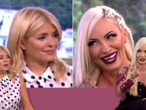 Viewers label Holly Willoughby 'mean' for failing to tell Jodie Marsh she has lipstick on her teeth