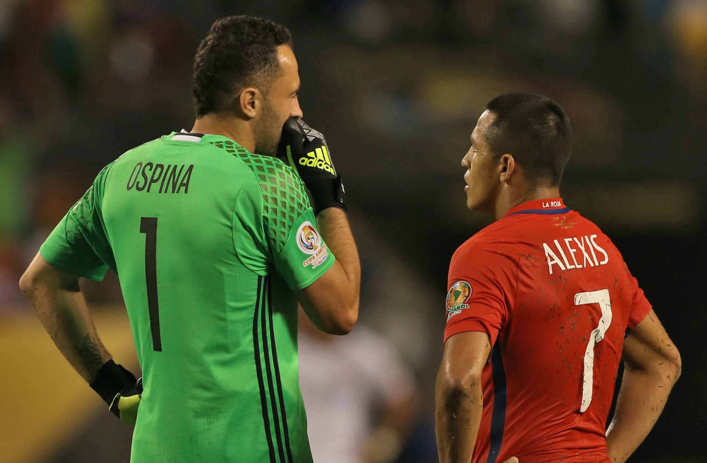 Arsenal goalkeeper David Ospina praises Alexis Sanchez after Chile beat Colombia