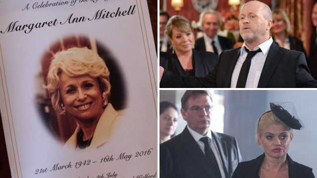EastEnders spoilers: Full picture preview of Peggy Mitchell's emotional funeral