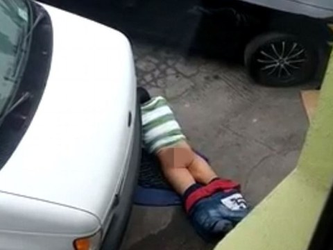 Road hump: Video 'shows man having sex with road'