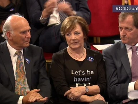 Delia Smith nailed her T-shirt choice for Channel 4's EU referendum debate