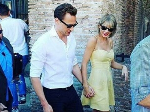 Taylor Swift and Tom Hiddleston stroll hand-in-hand around Rome during romantic break