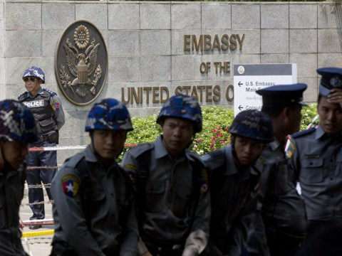Loud explosion and smoke seen at US Embassy in Myanmar