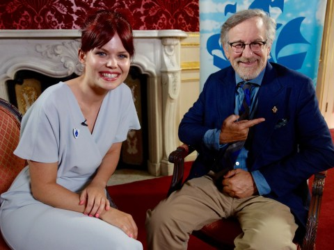 Steven Spielberg just got something better than an Oscar – a Blue Peter badge