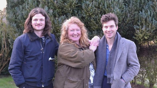 Charlie Dimmock teams up with the Rich Brothers for BBC series Garden Rescue credit: BBC
