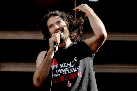 Russell Brand has discussed his impending fatherhood (Picture: Mary Turner/Getty Images)