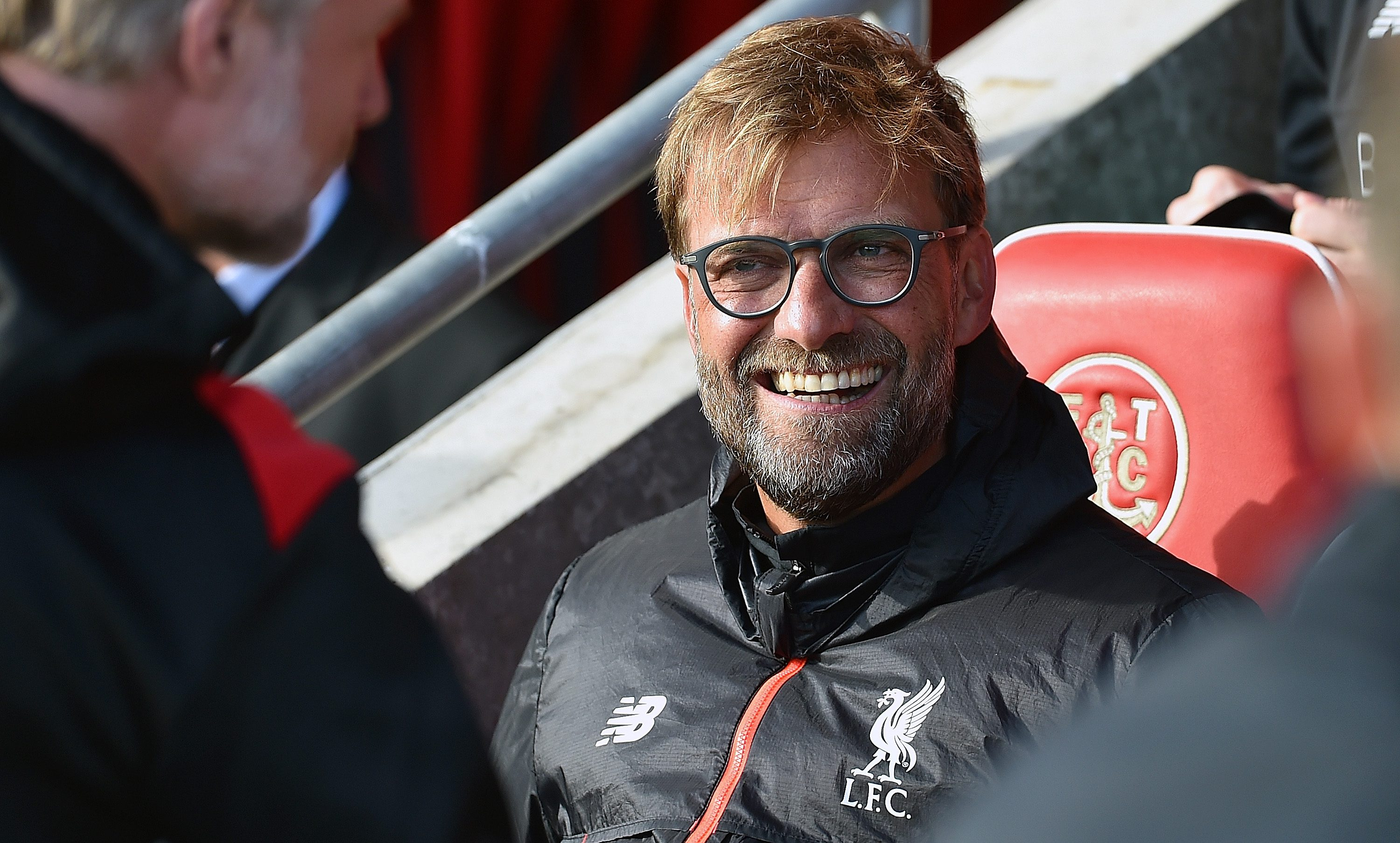 FLEETWOOD, ENGLAND - JULY 13:  (THE SUN OUT, THE SUN ON SUNDAY OUT) Jurgen Klopp manager of Liverpool during the Pre-Season Friendly match bewteen Fleetwood Town and Liverpool at Highbury Stadium on July 13, 2016 in Fleetwood, England.  (Photo by Andrew Powell/Liverpool FC via Getty Images )