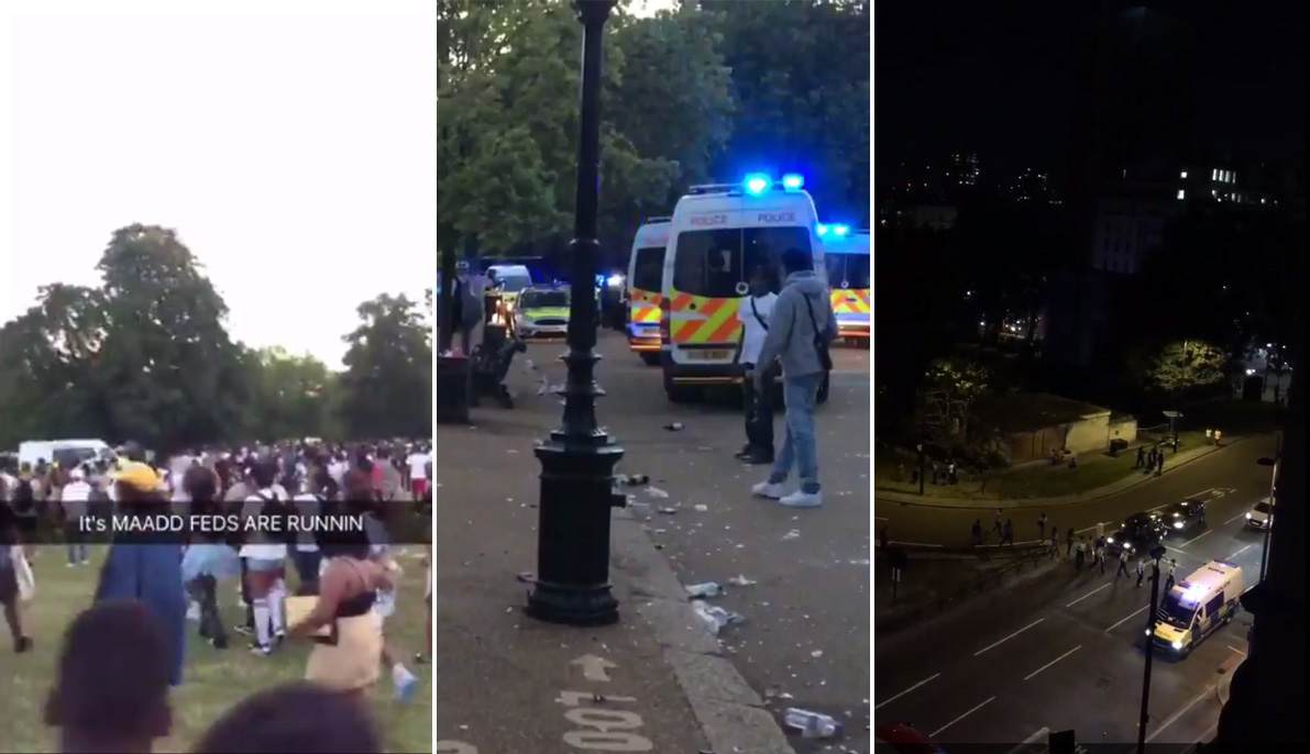 Police officer stabbed as mass water fight turns violent in Hyde Park
