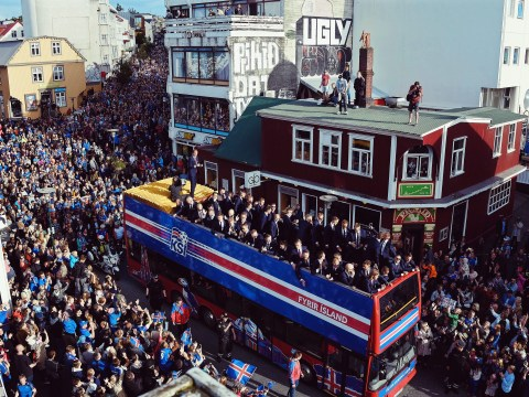 Video: Iceland's Euro 2016 stars return home to a hero's welcome