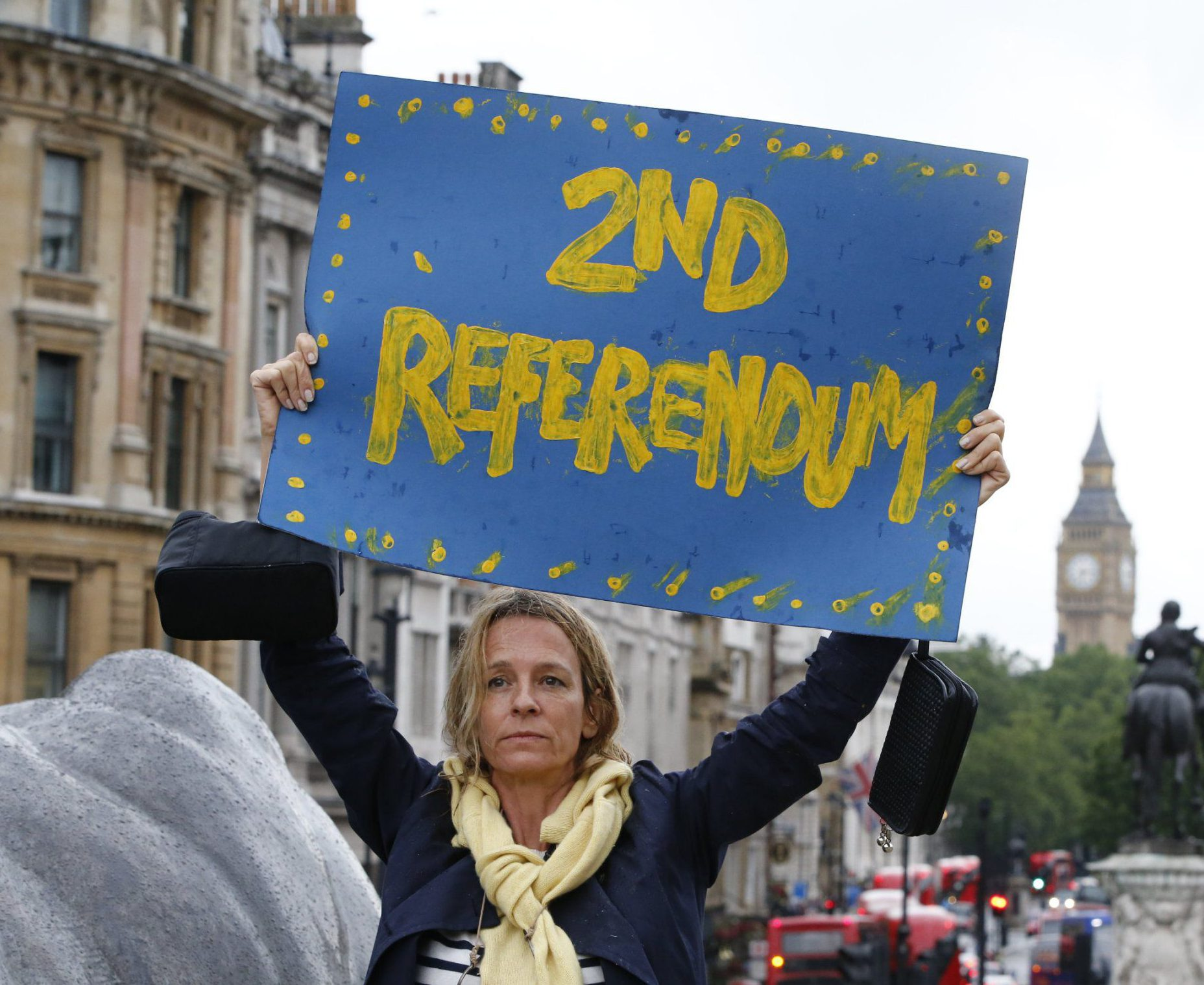 #marchforeurope Mandatory Credit: Photo by Tolga Akmen/LNP/REX/Shutterstock (5738255t)nPro-EU campaigners protest against Britain leaving the European Union in Trafalgar Square, London on Tuesday, 28 June 2016 after losing the EU referendum. The referendum was won by the leave campaign and caused Prime Minister David Cameron to resign on 23 June 2016.nPro-EU Rally, London, UK - 28 Jun 2016nn